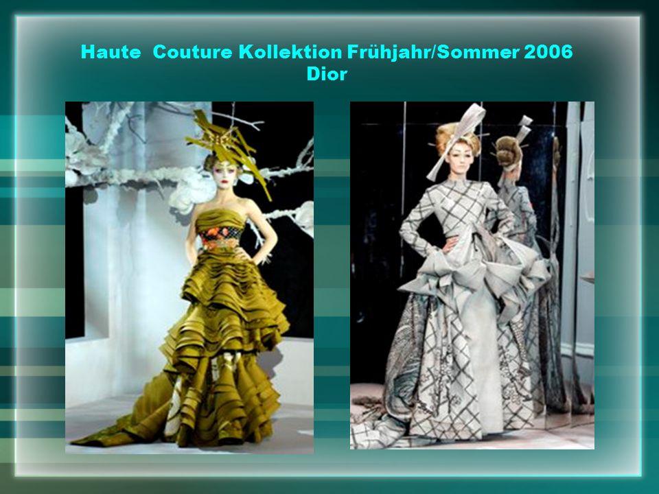 Haute Couture Kollektion Frühjahr/Sommer 2006 Dior