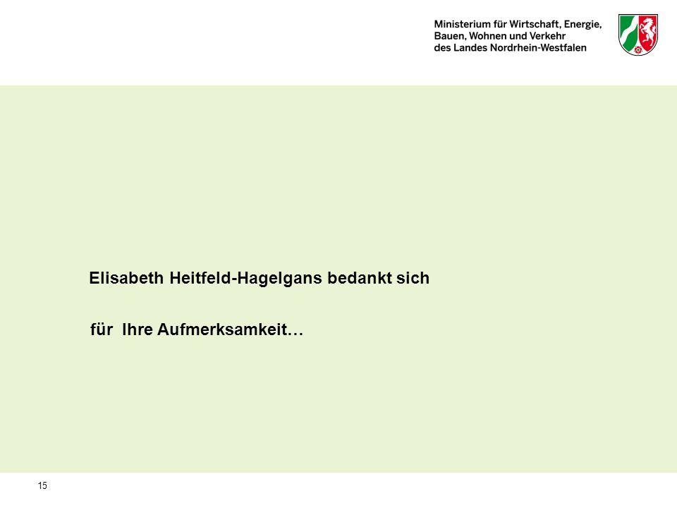 Elisabeth Heitfeld-Hagelgans bedankt sich