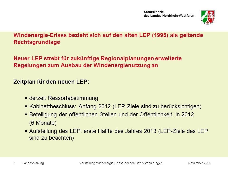Zeitplan für den neuen LEP: derzeit Ressortabstimmung