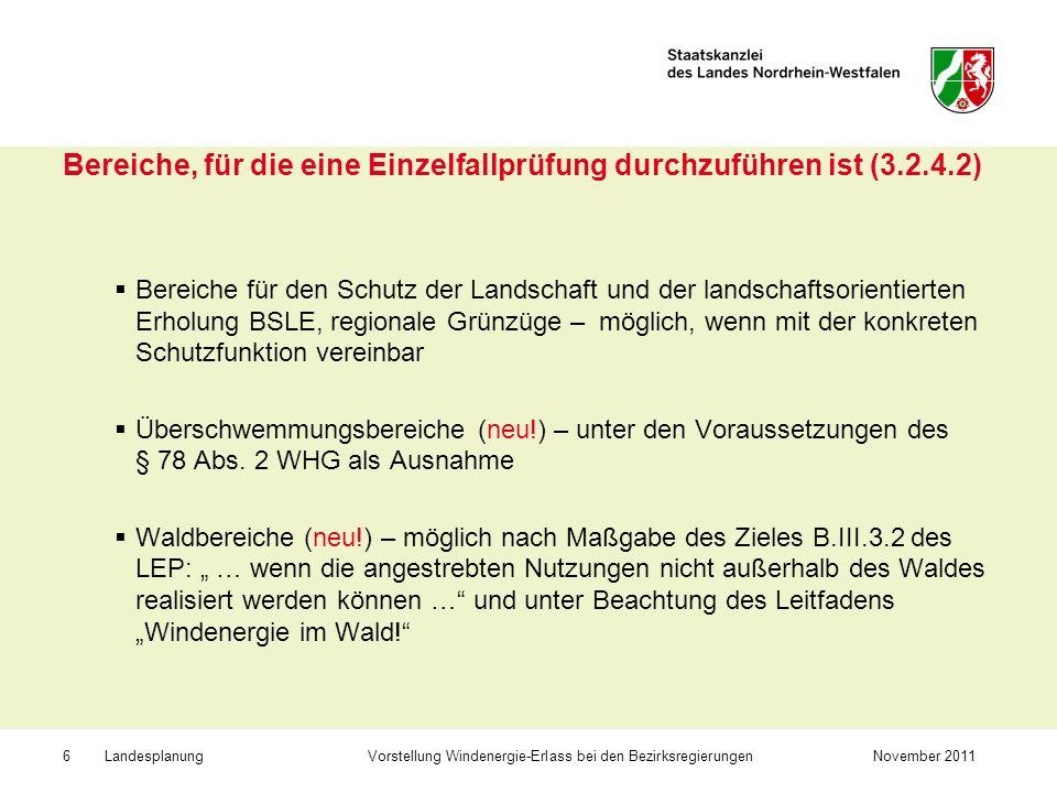 Bereiche, für die eine Einzelfallprüfung durchzuführen ist (3.2.4.2)