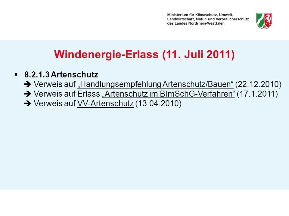 Windenergie-Erlass (11. Juli 2011)