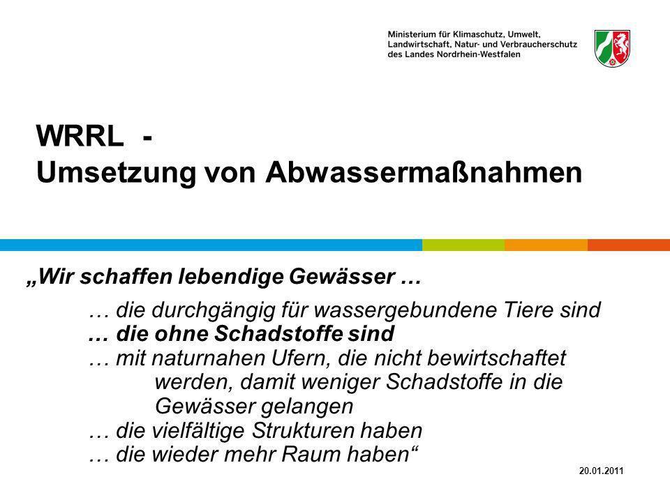 WRRL - Umsetzung von Abwassermaßnahmen