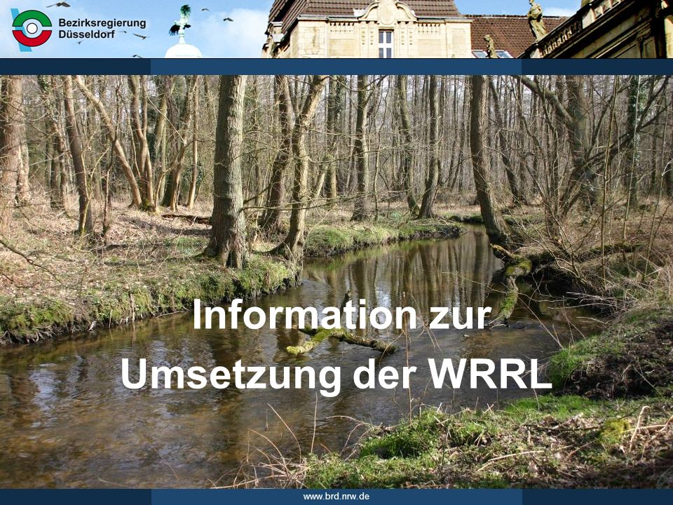 Information zur Umsetzung der WRRL