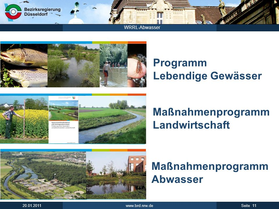 Maßnahmenprogramm Abwasser