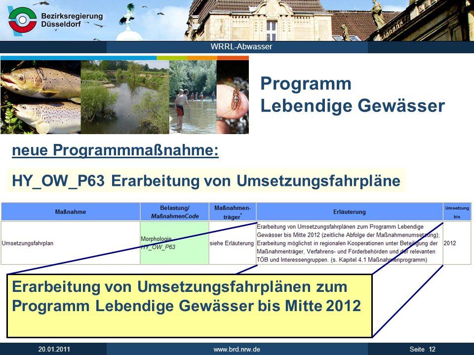 Programm Lebendige Gewässer
