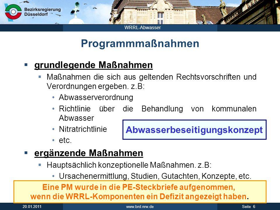Programmmaßnahmen grundlegende Maßnahmen ergänzende Maßnahmen
