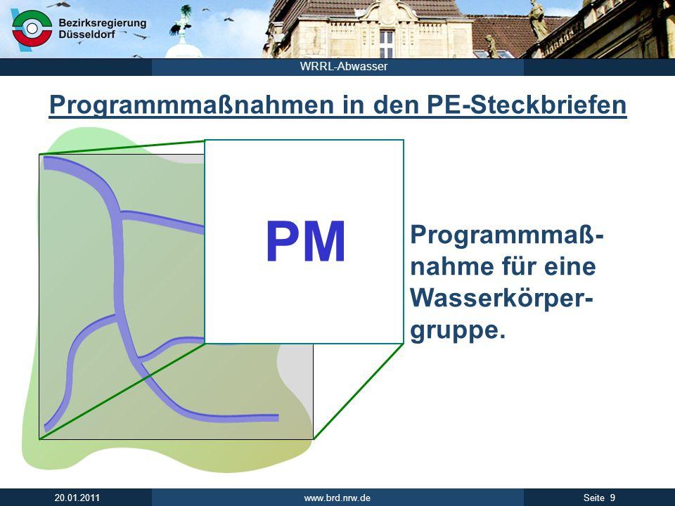 Programmmaßnahmen in den PE-Steckbriefen