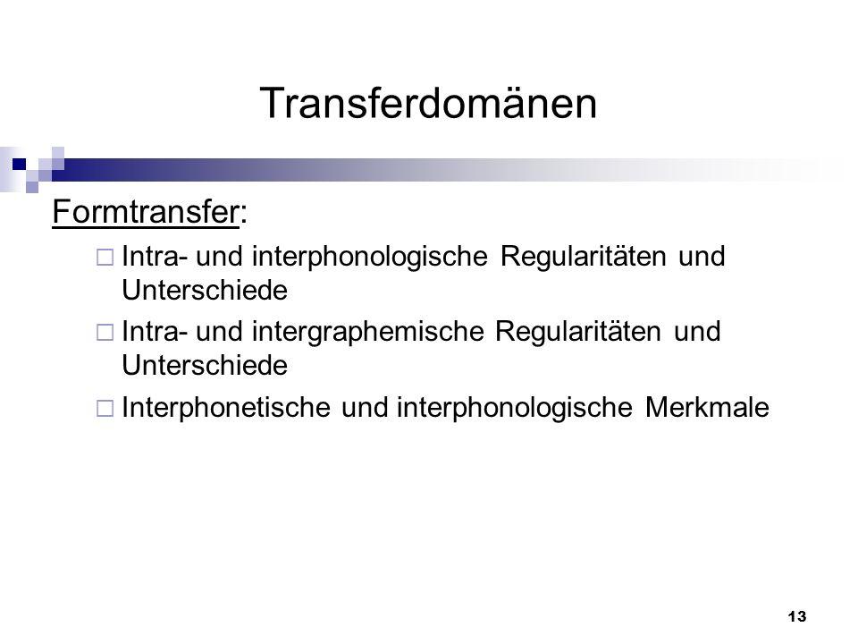 Transferdomänen Formtransfer: