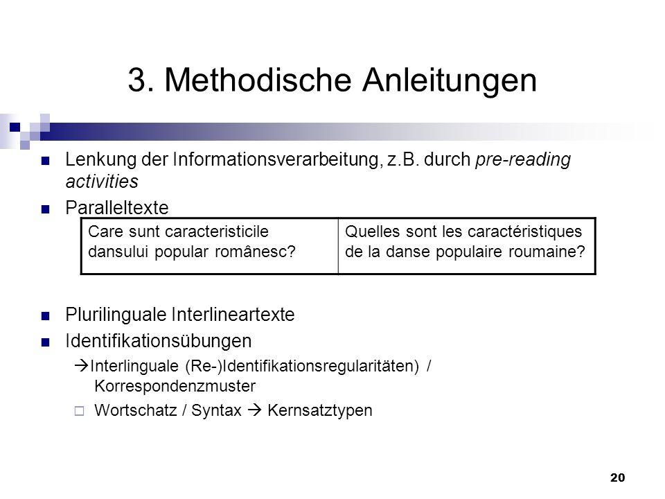 3. Methodische Anleitungen