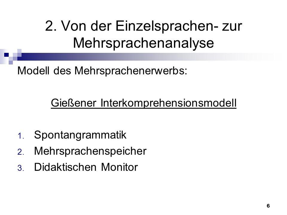 2. Von der Einzelsprachen- zur Mehrsprachenanalyse