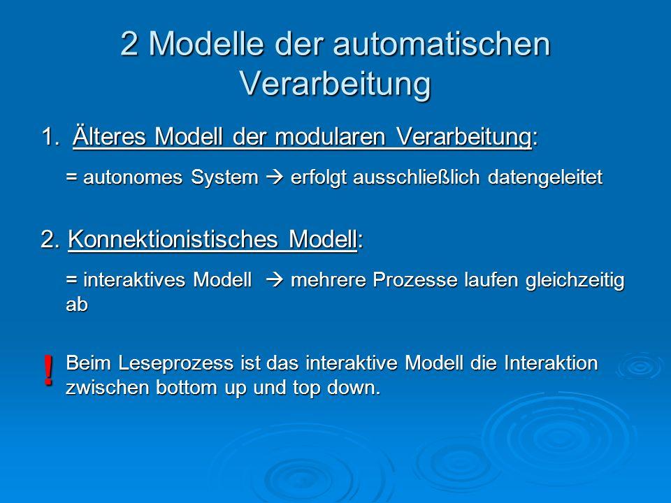 2 Modelle der automatischen Verarbeitung