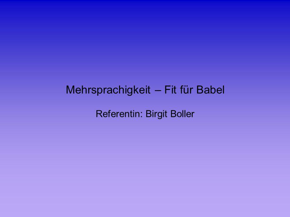 Mehrsprachigkeit – Fit für Babel