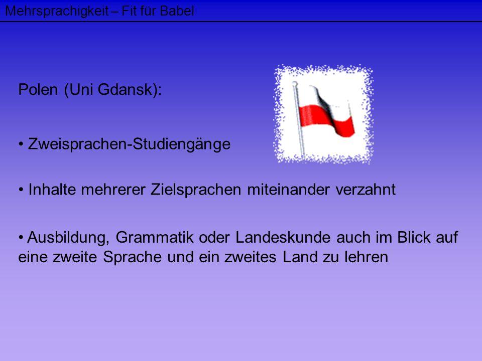 Zweisprachen-Studiengänge