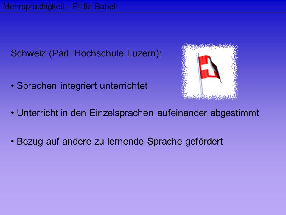 Schweiz (Päd. Hochschule Luzern):