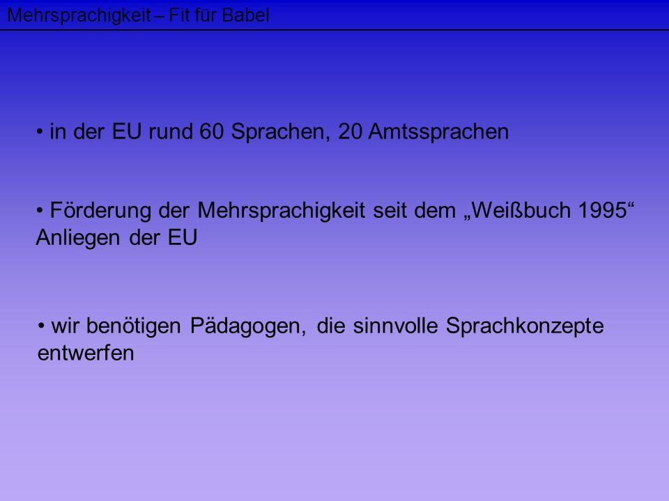 in der EU rund 60 Sprachen, 20 Amtssprachen