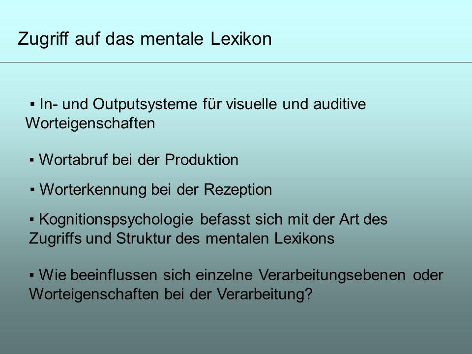 Zugriff auf das mentale Lexikon
