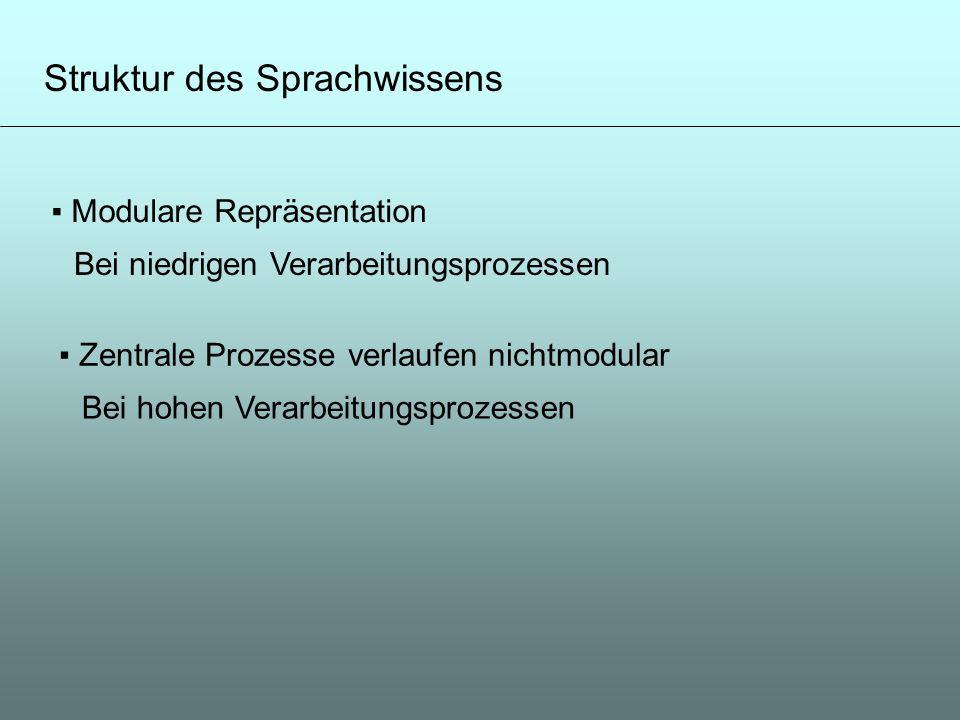 Struktur des Sprachwissens