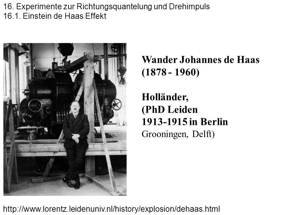 Wander Johannes de Haas (1878 - 1960) Holländer, (PhD Leiden