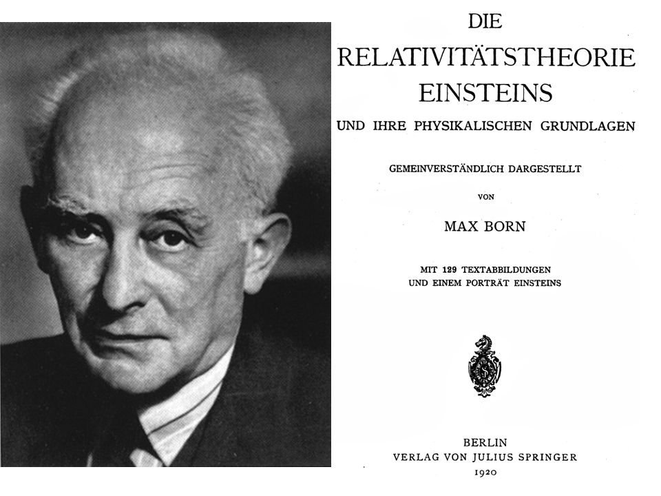 Max Born 1882-1970 Nobelpreis in Physik 1954. ... für die statistische. Interpretation der Wellenfunktion ...