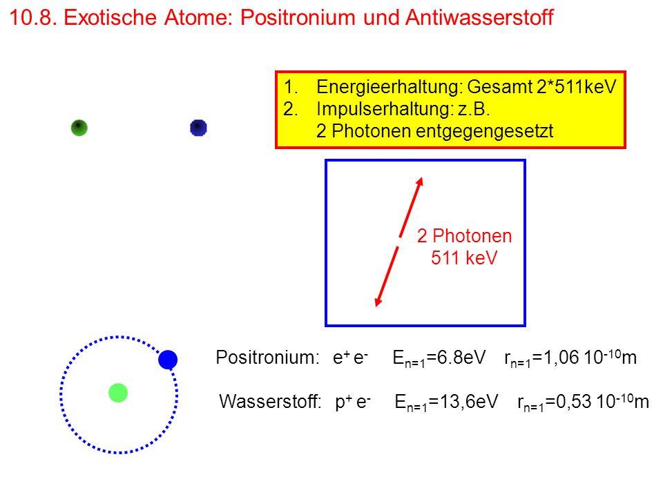 10.8. Exotische Atome: Positronium und Antiwasserstoff
