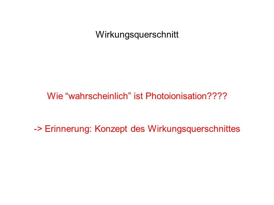 Wie wahrscheinlich ist Photoionisation