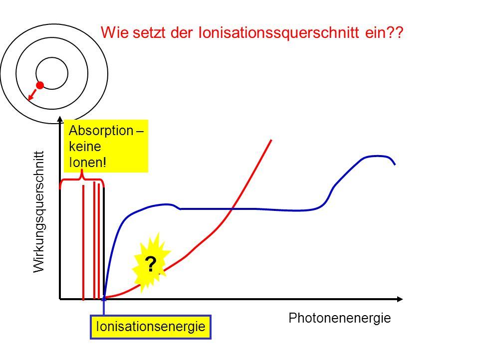 Wie setzt der Ionisationssquerschnitt ein