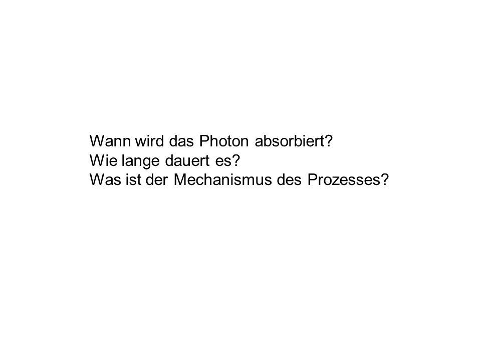 Wann wird das Photon absorbiert