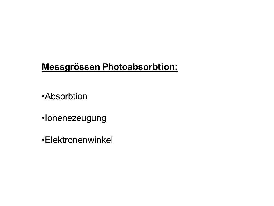 Messgrössen Photoabsorbtion: