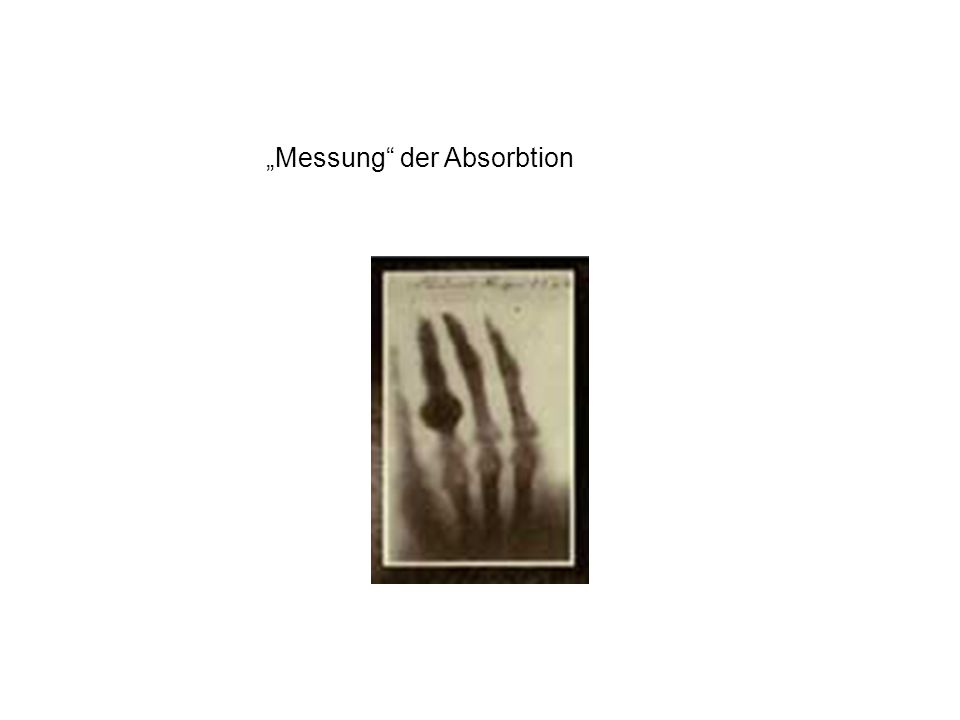 """""""Messung der Absorbtion"""