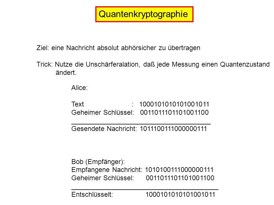 Quantenkryptographie