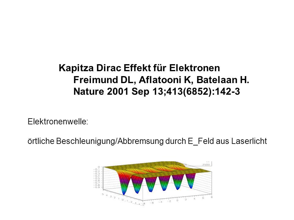 Kapitza Dirac Effekt für Elektronen