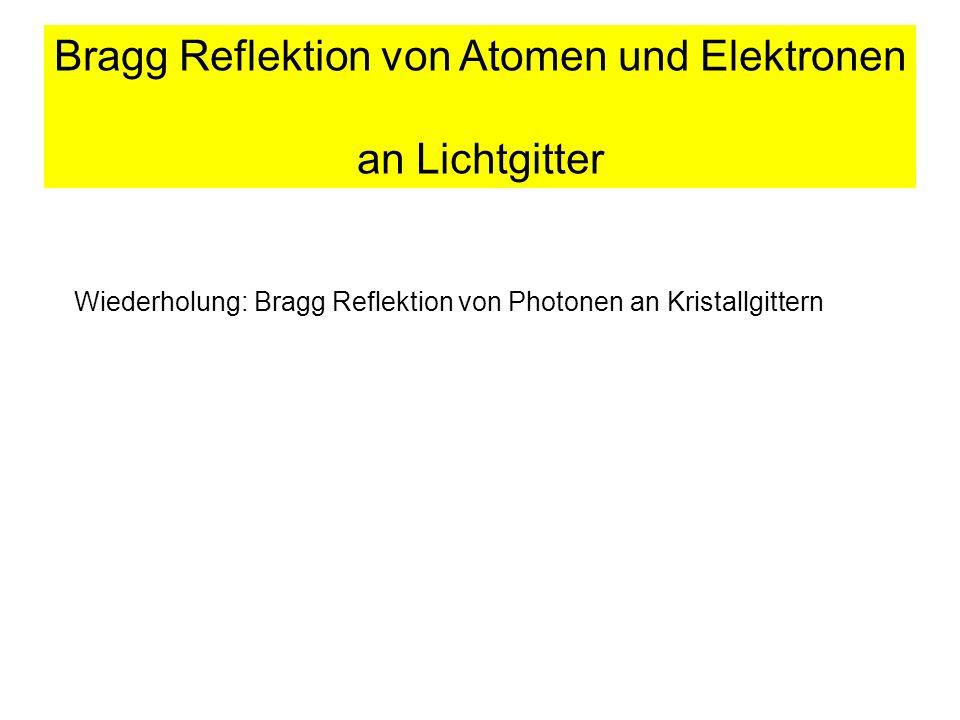 Bragg Reflektion von Atomen und Elektronen