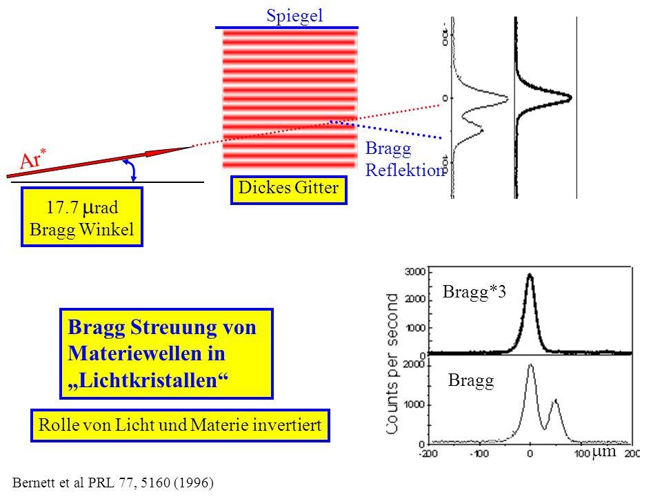 """Ar* Bragg Streuung von Materiewellen in """"Lichtkristallen Spiegel"""