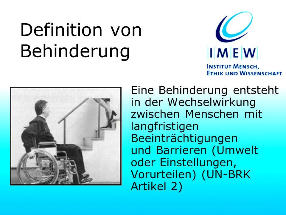 Definition von Behinderung