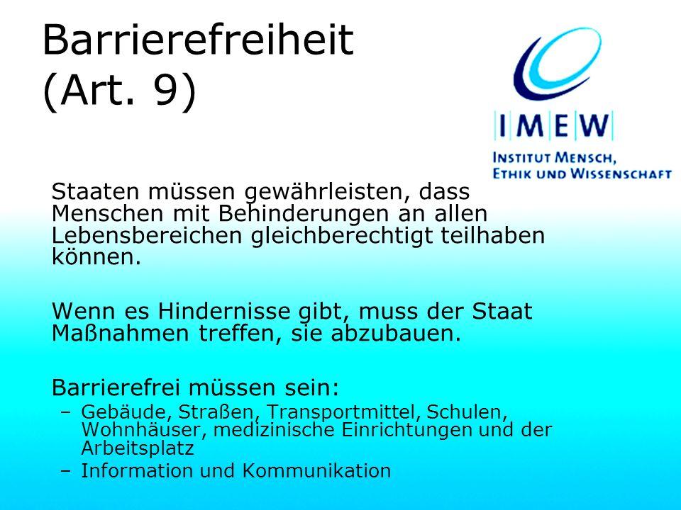 Barrierefreiheit (Art. 9)