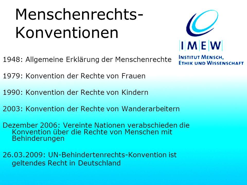 Menschenrechts-Konventionen
