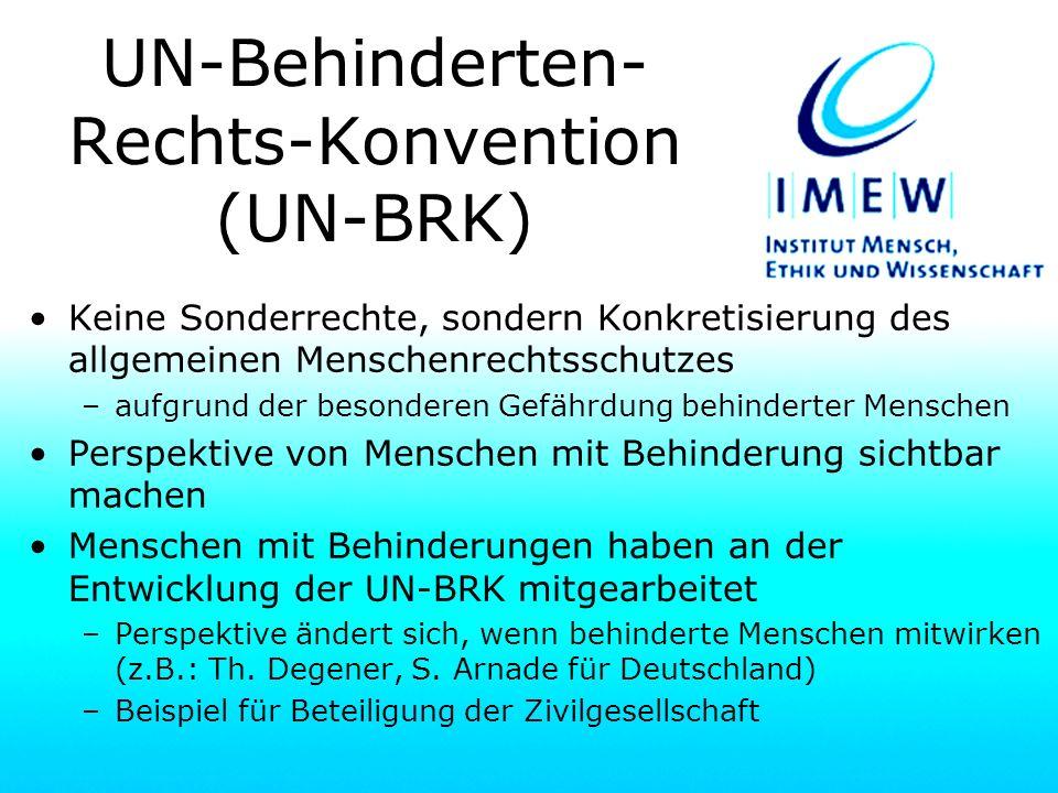 UN-Behinderten-Rechts-Konvention (UN-BRK)