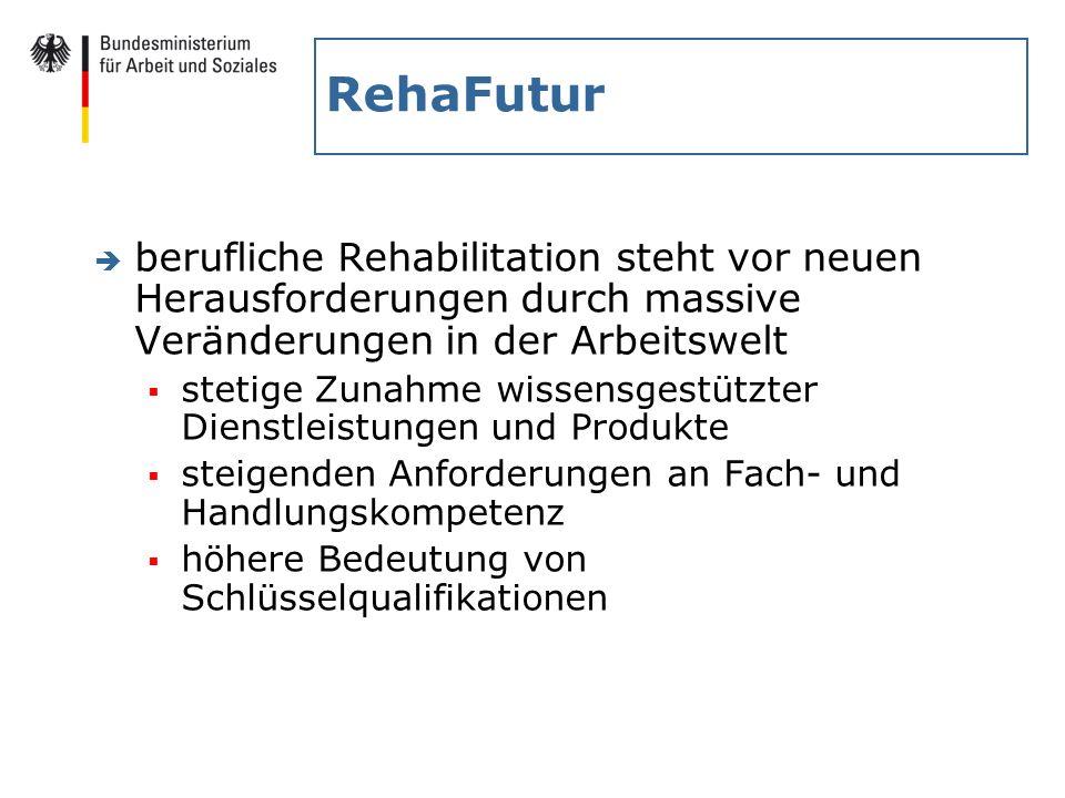 RehaFutur berufliche Rehabilitation steht vor neuen Herausforderungen durch massive Veränderungen in der Arbeitswelt.