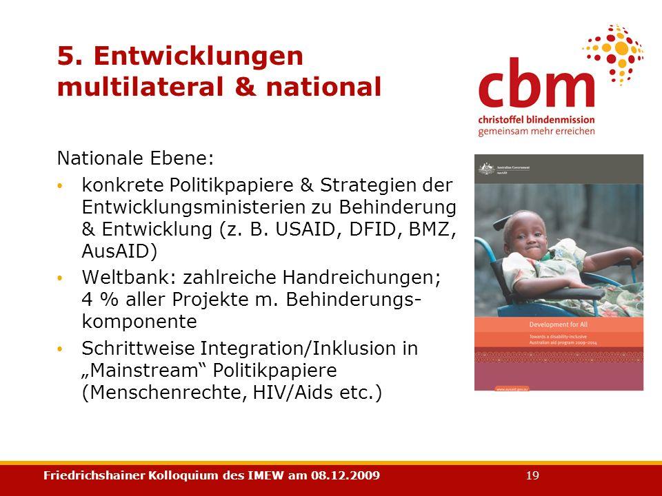 5. Entwicklungen multilateral & national