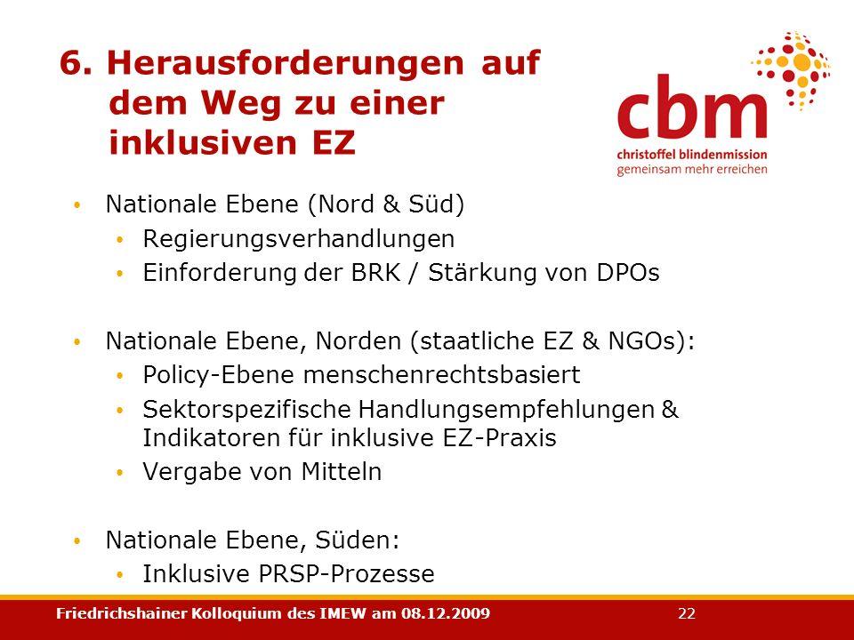 6. Herausforderungen auf dem Weg zu einer inklusiven EZ