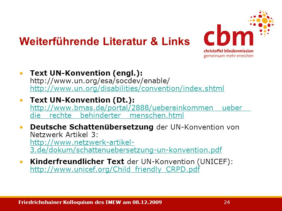 Weiterführende Literatur & Links