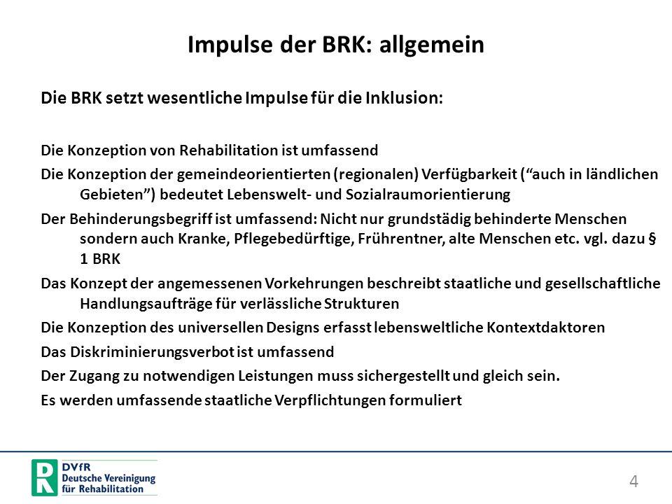 Impulse der BRK: allgemein