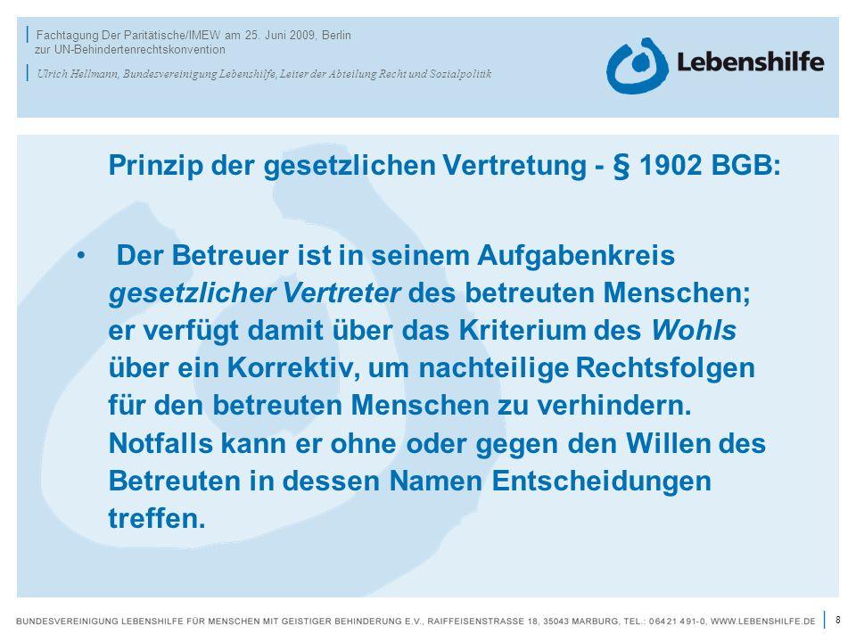 Prinzip der gesetzlichen Vertretung - § 1902 BGB: