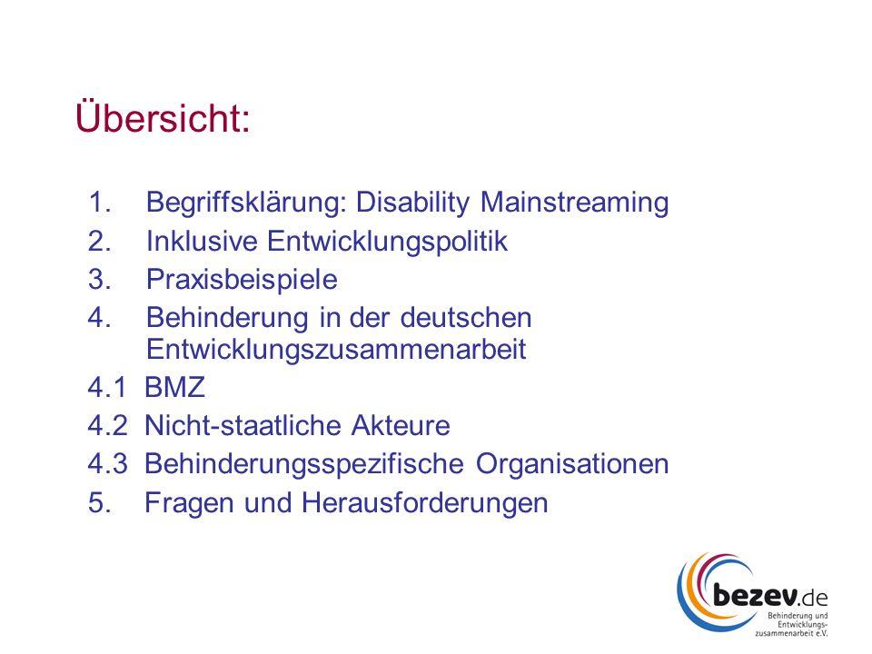 Übersicht: Begriffsklärung: Disability Mainstreaming