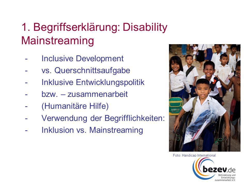 1. Begriffserklärung: Disability Mainstreaming