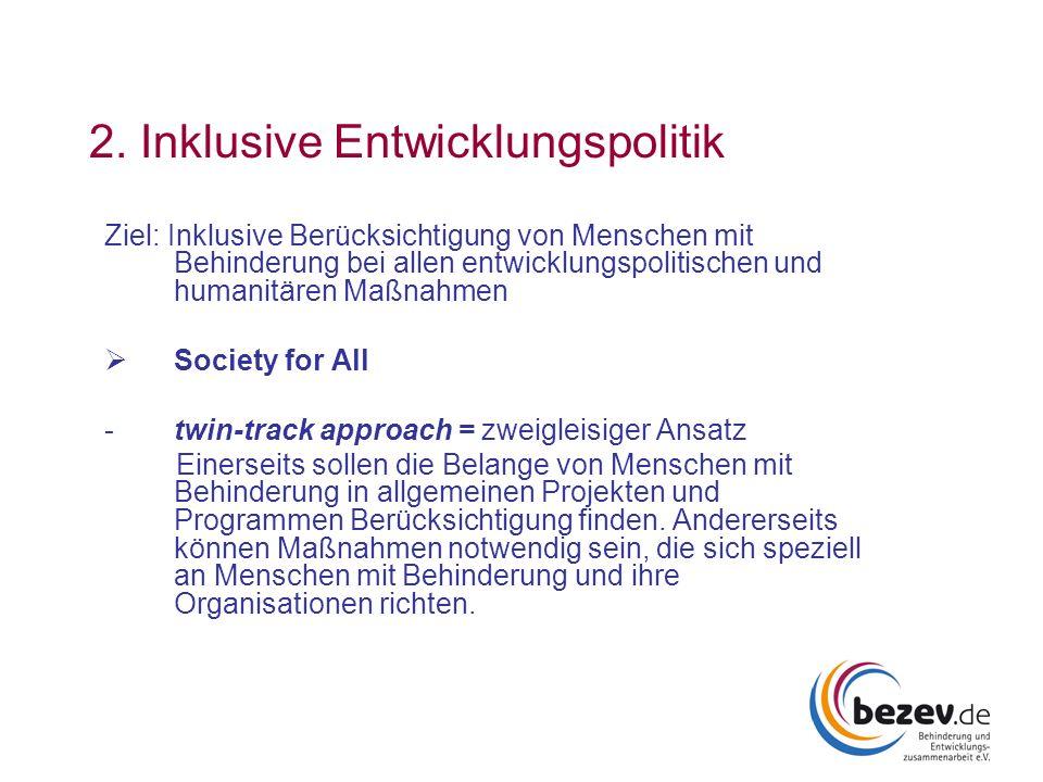 2. Inklusive Entwicklungspolitik