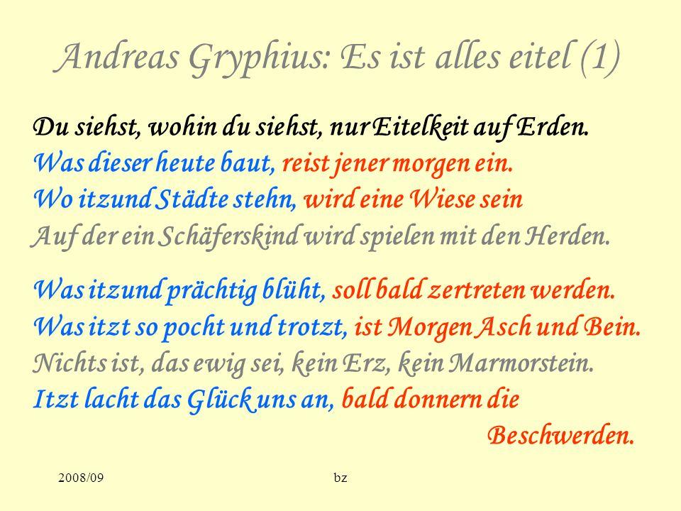 Andreas Gryphius: Es ist alles eitel (1)