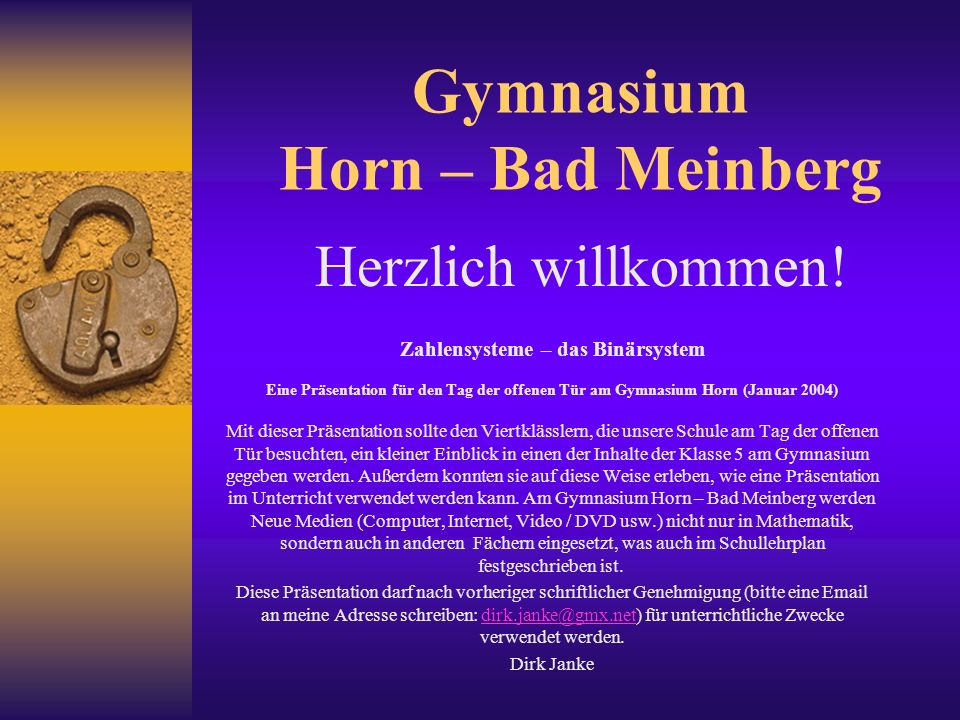 Gymnasium Horn – Bad Meinberg