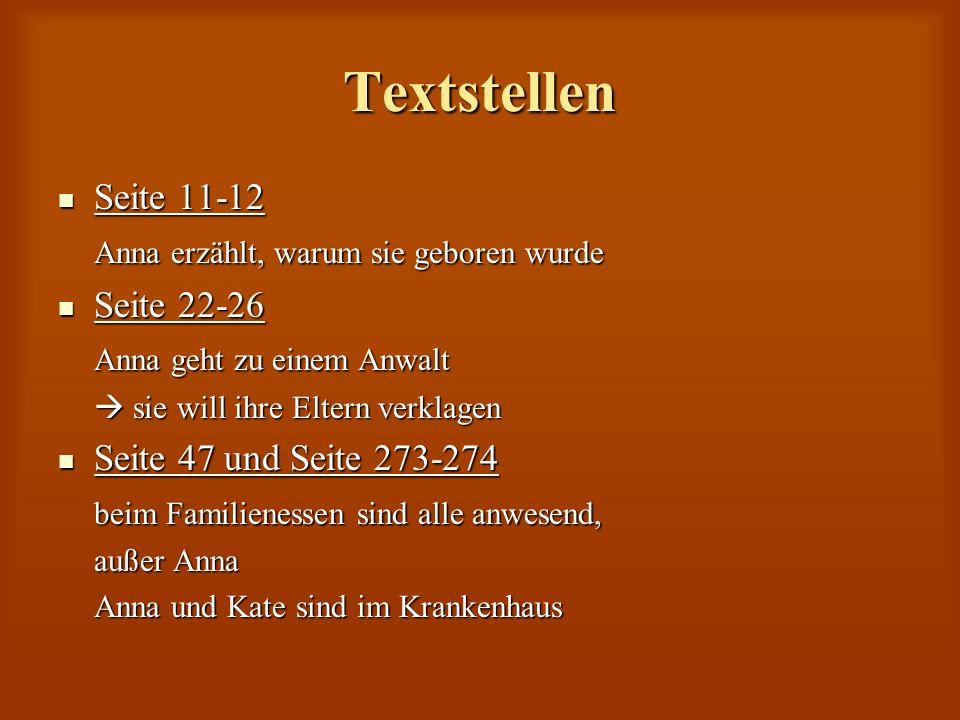 Textstellen Seite 11-12 Anna erzählt, warum sie geboren wurde