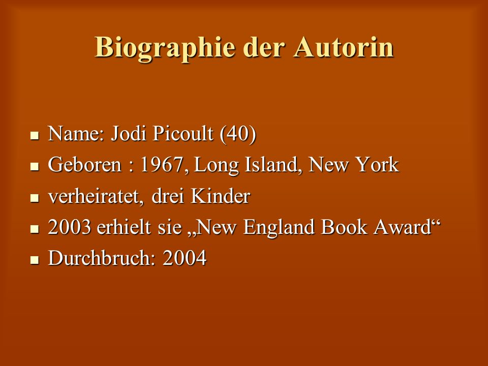 Biographie der Autorin